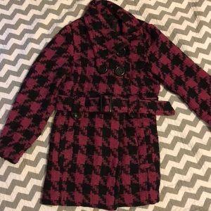 Girls houndstooth coat